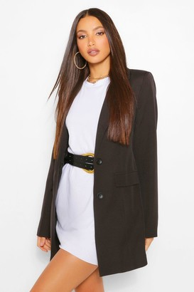 boohoo Tall Fitted Satin Blazer