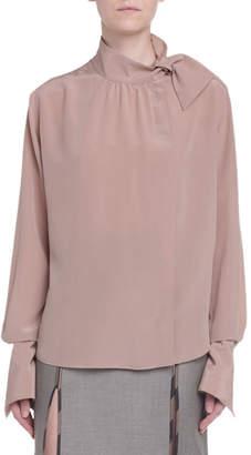 Fendi Asymmetric Button-Front Blouse