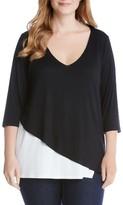 Karen Kane Plus Size Women's Layered V-Neck Top