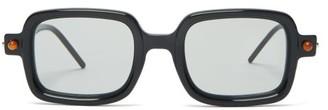 Kuboraum Square Acetate Glasses - Black White