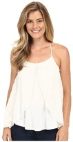 Stetson Poly Knit Tank Top w/ Shifley Overlay