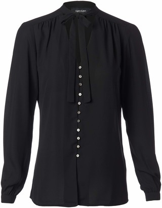 Karen Kane Women's Tie-Neck Button-Front Blouse