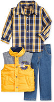 Nannette Baby Boys' 3-Pc. Vest, Shirt & Pants Set