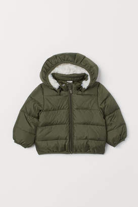 H&M Hooded Down Jacket - Green