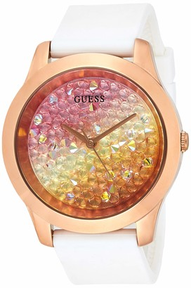 GUESS Women's Analogue Quartz Watch with Silicone Strap W1223L3
