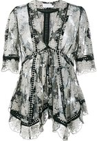 Zimmermann floral embroidery blouse