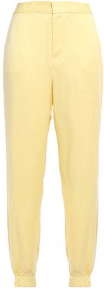 Equipment Le Jogging Washed Silk-blend Tapered Pants