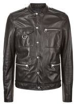 Lanvin Ring Detail Leather Jacket