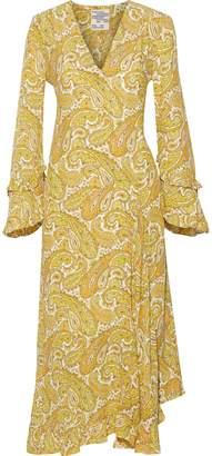 Baum und Pferdgarten Ameli Ruffle-trimmed Printed Crepe Midi Dress