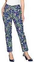 C. Wonder Regular Botanical Floral PrintAnkle Jeans