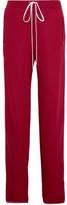 Chloé Jersey Wide-leg Sweatpants - Claret