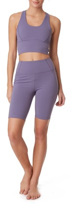 X By Gottex Active High Waisted Biker Shorts