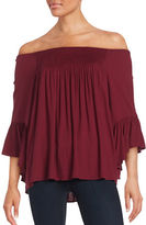 Ella Moss Shirred Peasant Blouse