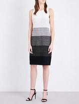 St. John Degradé-pattern tweed dress