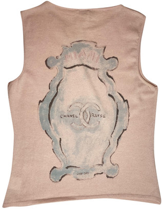 Chanel Pink Cashmere Tops