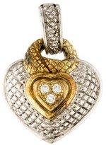 Judith Ripka Two-Tone Diamond Heart Pendant