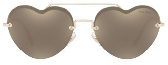 Miu Miu 58MM Heart Aviator Sunglasses