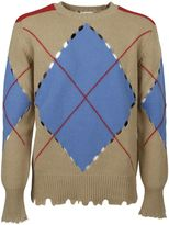 MSGM Perforated Argyle Sweater