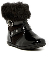 Laura Ashley Faux Fur Trimmed Boot (Toddler & Little Kid)