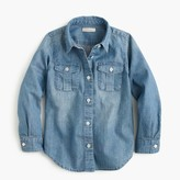 J.Crew Girls' chambray keeper shirt