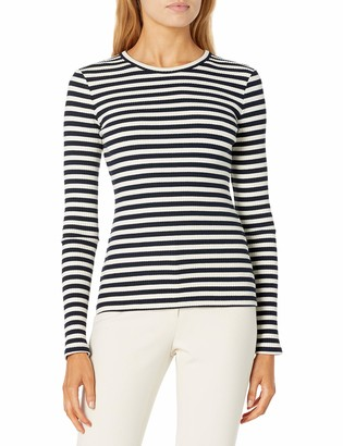 Theory Women's Long Sleeve Striped Tiny Tee
