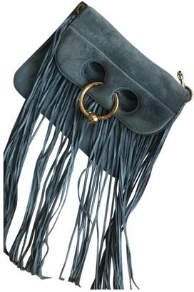 J.W.Anderson Blue Suede Handbags