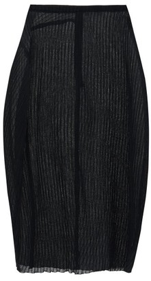 Jil Sander Plisse-jersey Midi Skirt - Black