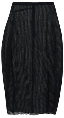 Jil Sander Plisse-knit Midi Skirt - Black