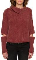 Willow & Clay Women's Zip Sleeve Turtleneck Sweater