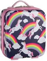 Pottery Barn Kids Mackenzie Pink Rainbow Unicorn Spinner Luggage