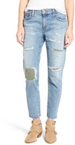 Joe's Jeans Collector's Ex-Lover Straight Leg Mended Boyfriend Jean