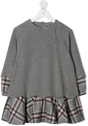 Il Gufo Layered-Look Sweatshirt Dress