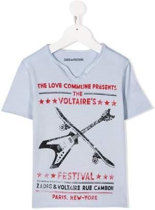 Zadig & Voltaire Kids graphic print T-shirt