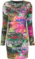 Philipp Plein crystal embellished jungle dress