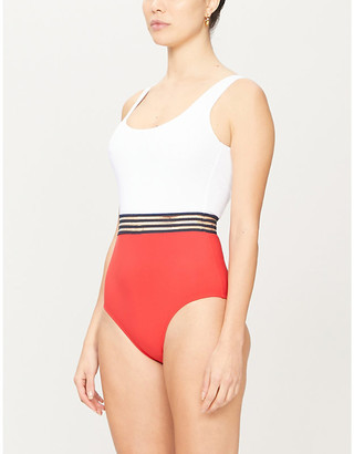 Emma Pake Coco colour-blocked swimsuit