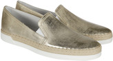 Tod's Textured Leather Slip-On Sneakers