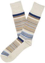 Perry Ellis Marled Stripe Dress Sock