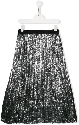 Msgm Kids Sequinned Tulle Skirt