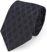 Armani Collezioni Black Diamond Patterned Tie