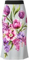 Dolce & Gabbana tulip print skirt