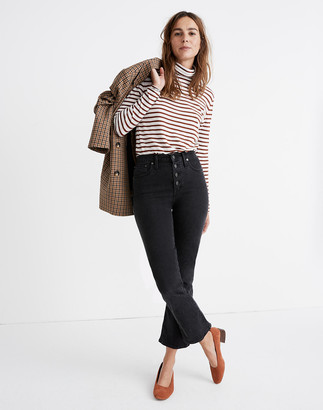 Madewell Petite Cali Demi-Boot Jeans in Bellspring Wash: Button-Front Edition