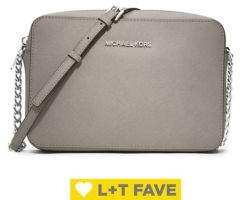 MICHAEL Michael Kors Jet Set Large Textured Leather Crossbody Bag
