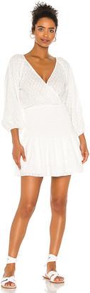 SUBOO Claudia Shirred Mini Dress