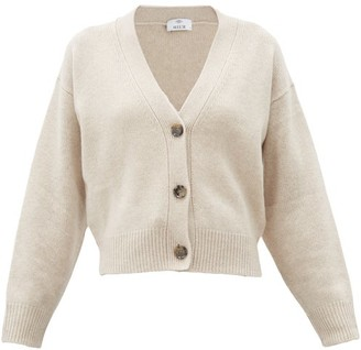 Allude Dropped-sleeve Cashmere Cardigan - Beige