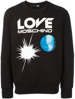 Love Moschino logo print sweatshirt - men - Cotton/Polyester - S