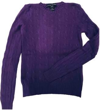 Ralph Lauren Purple Cashmere Knitwear for Women