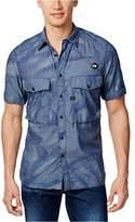G Star Men's Type C Straight Shirt Short Sleeve Lt WT Torg Chambray Duck