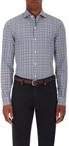Ermenegildo Zegna Men's Plaid Poplin Shirt-BURGUNDY