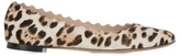 Chloé Lauren Leopard Scallop Flats