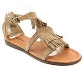 Minnetonka Maui Women Open Toe Suede Brown Gladiator Sandal.